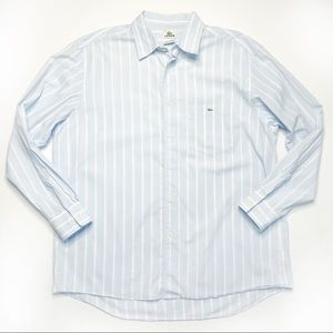 Lacoste 45 Light Blue Collared Button Down